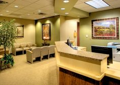 Today's topic is the Medical Office Interior Design. On the medical office, the patients get their first impression from the waiting room and the reception area Medical Office Interior, Optometry Office, Medical Office Design, Office Interior Design, Office Interiors, Office Designs, Room Interior, Interior Ideas, Ceo Office