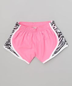 Soffe Pink Lemonade Zebra Shorts by Soffe #zulily #zulilyfinds