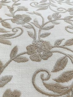 """Marble Floral Embroidery On Fine Cotton BlendThis fabric is perfect for upholstery, drapery and pillows.This fabric consists of 52% Cotton, 48% Polyester & 100% Viscose Embroidery.This fabric has a 6.5"""" horizontal repeat and a 6.25"""" vertical repeat.This fabric measures 54.5 inches wide and is priced at $74 per yard. No swatches or samples available at this time. The picture provided is true to the finished product.The shipping rate within the United States listed is for one yard. Shipping…"""