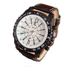 >> Click to Buy << 2017 New Business Quartz Watch Men sport Military Watches Men Corium Leather Strap army wristwatch clock hours Relogio Masculino #Affiliate
