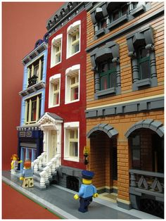 Three buildings for the Ukrbricks contest. Architectural Engineering, Architectural Shingles, Architectural Styles, Architectural Salvage, Casa Lego, Big Lego, Lego Modular, Lego Worlds, Cool Lego Creations