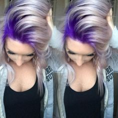Formula For This Gorg Purple To Platinum Melt Stylist Selfie! Formula For This Gorg Purple To Platinum Melt Love Hair, Great Hair, Gorgeous Hair, Dye My Hair, New Hair, Hair Dos, Pretty Hairstyles, Scene Hairstyles, Updo Hairstyle