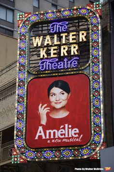 Up on the Marquee: AMELIE Off Broadway Shows, Broadway Nyc, Broadway Theatre, Musical Theatre, Broadway Sign, Great Comet Of 1812, The Great Comet, Theatre Geek, Theater