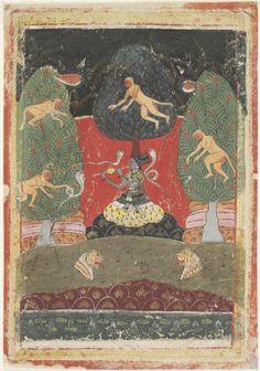 Asavari Ragini, illustration from a Ragamala (Garland of Melodies) Series