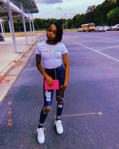 Best Casual Outfits, Summer Fashion Outfits, Dope Outfits, Teenage Girl Outfits, Teenager Outfits, Outfits For Teens, Black Girl Fashion, Aesthetic Clothes, Hair Puff