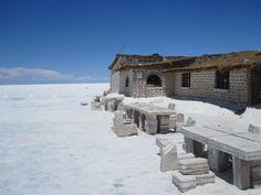 The salt hotel in Bolivia.