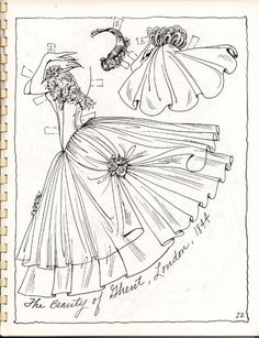 """Photo from album """"Бумажные куклы"""" on Yandex. Colouring Pages, Adult Coloring Pages, Coloring Sheets, Coloring Books, Ballet Books, Vintage Dance, Paper Dolls Printable, Vintage Paper Dolls, To Color"""