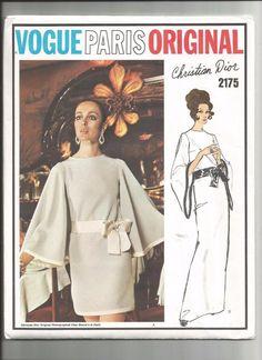 Vtg Vogue Paris Original Suit Pattern 2175  by CHRISTIAN DIOR  Sash Only Cut 12