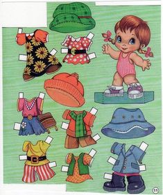 The Vintage Toy Chest: Paper Dolls Paper Dolls Book, Vintage Paper Dolls, Paper Toys, Vintage Toys, Paper Art, Paper Crafts, Fun Activities, Little Girls, Childhood