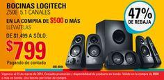 RadioShack: Bocinas Logitech Z506 a $799 RadioShack cuenta con muy buenas ofertas y promociones para este fin de semana, a continuación te las presentamos: > Hasta 15 meses sin intereses con tarjetas HSBC > Tablet Coby de 7 pulgadas $999. > Bocinas Logitech Z506 5.1 canales $799 con ... -> http://www.cuponofertas.com.mx/oferta/radioshack-bocinas-logitech-z506-799/