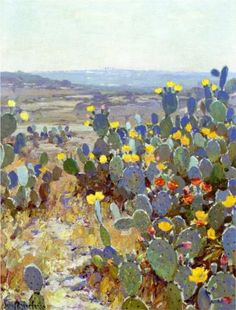 Untitled (aka Landscape with Catci) - Robert Julian Onderdonk