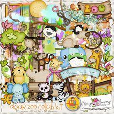 """Photo from album """"Dear Zoo"""" on Yandex. Digital Paper Free, Free Digital Scrapbooking, Digital Scrapbook Paper, Baby Scrapbook, Scrapbook Pages, Digital Papers, Paper Butterflies, Butterfly Cards, Dear Zoo"""