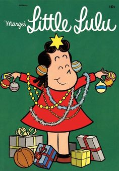 Little Lulu christmas comic -once a brother of mine called my Aunt Mary, Little Lulu because he thought see looked like Lulu. (she did), He got the smack down of a life-time. Christmas Comics, Christmas Cartoons, Christmas Books, Vintage Christmas Cards, Vintage Holiday, Christmas Gifts, Christmas Tree, Old Comic Books, Vintage Comic Books