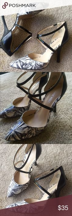 Nine West Black & White Heels Worn once to a dinner party. Super cute and comfy! Nine West Shoes Heels