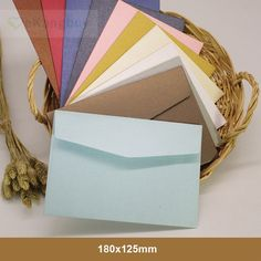 50pcs 182x125mm Color Iridescent Paper Envelope 250gsm Thick Wedding Business Invitation Envelopes