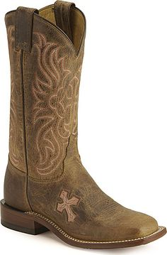 Tony Lama Cross Inlay (pink) boots