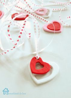 Clay Heart Charms for Valentine