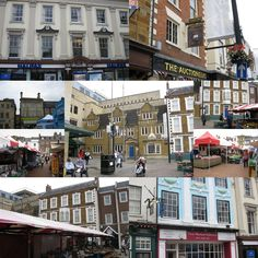 Just some of the buildings which surround the Market Square.