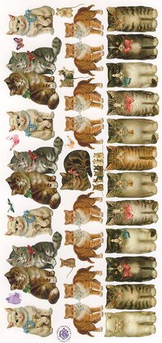 Cat stickers made in the USA Printables Images Vintage, Vintage Cat, Vintage Ephemera, Vintage Pictures, Etiquette Vintage, Photo Chat, Cat Cards, Cat Stickers, Decoupage Paper