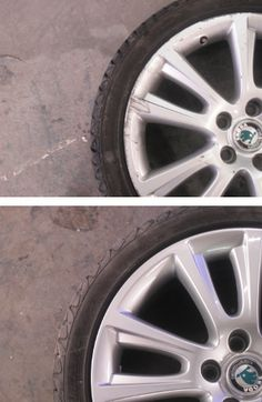 Alloy wheel repair before and after....