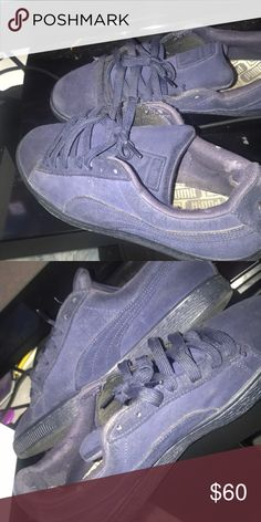 023e8648399 Blue suede pumas Little dirty and worn Puma Shoes Sneakers Puma Suede