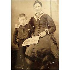 Wyatt Earp with his mother 1856