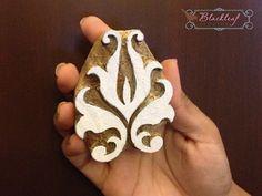 Wood Block Printing Hand Carved Indian Wood Textile Block Stamp Turkish Moroccan Lisbon Motif