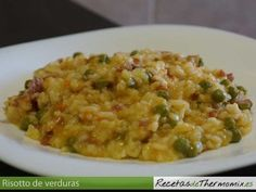 Risotto de verduras con Thermomix Recipe Using, Food And Drink, Vegetables, Cooking, Ethnic Recipes, Salsa Carbonara, Gluten, Chocolate, Risotto
