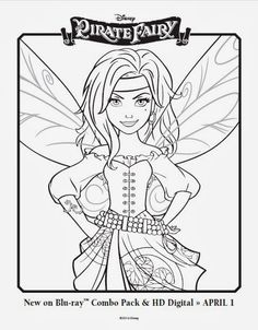 Free Printable Disney fairy Coloring Pages | Disney+Fairies+Free+Zarina+Coloring+Pages+The+Pirate+Fairy.jpg
