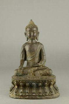 Chinese Bronze Cast Buddha Statue with Kangxi Mark