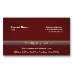 Simple Professional with Photo or Logo Deep Red Business Card Template