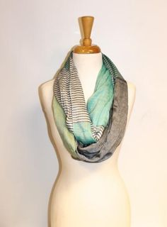 Mint Infinity Scarf- make with spring yarn