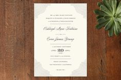 Splendorous Wedding Invitations by Design Lotus at minted.com // like the framing, not the name font
