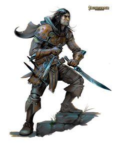 m Ranger studded leather sword daggers cape