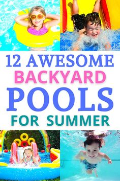 12 Awesome Backyard Pools for the Summer | Best backyard pools, pools with water slides, pools with slides, backyard pools with slides, inflatable pools with water slides, inflatable pools, water slides for backyard
