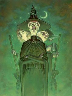 Wyrd Sisters - artwork by Paul Kidby