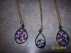 lilac necklaces