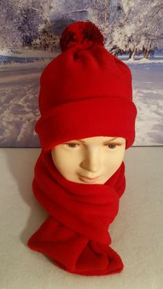 Red Fleece Hat and Scarf, Kids Hats and Scarves, Girls Red Hat and Scarf, Boys Red Hat and Scarf, Red Fleece Scarf, Toddler Red Hat by StephFleeceDesigns on Etsy