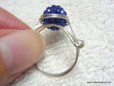 Adjustable Wired RIng with Sparkling Bead Wire & Jewelry Making Tutorial Series T148 (Scheduled via TrafficWonker.com)