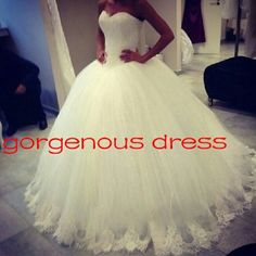 Lace wedding dress / Sweetheart wedding gown / by Gorgenousdress, $279.00