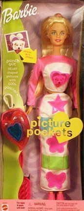 Barbie Picture Pockets Doll 28701 by Mattel. $14.50. Punch out heart shaped pictures with cool puncher. Mattel 2000