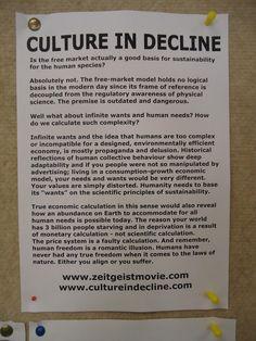 Culture in Decline. Zeitgeist Movement. It is all too true.