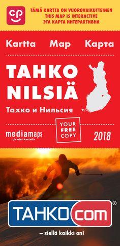 Uusi Mediamapsin Tahko & Nilsiä -kartta on ilmestynyt