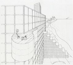 The Palace, Arquitectonica, Miami, Image from GA Document 1983 Map Diagram, Architecture Drawings, Presentation, Modernism, Ark, Thesis, Illustration, 1980s, Palace