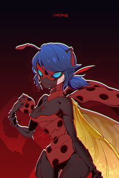 Ladybug As A Ladybug Monster Superhero From Miraculous Ladybug And marienkäfer als marienkäfer-monster-superheld. Ladybug Y Cat Noir, Ladybug Comics, Miraclous Ladybug, Lady Bug, Marinette Adrien, What Cat, Miraculous Ladybug Fan Art, Bugaboo, Magical Girl