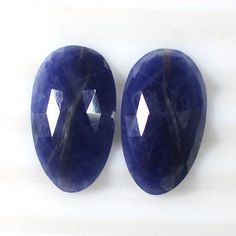 20.23 Cts Natural Blue Sapphire Gems Rose Cut FancyOval Pair Unheated Madagascar