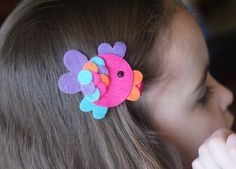 Cute Fish Hair Clip Meet Miss Fae por CravingCuteness en Etsy