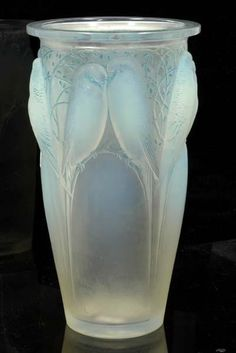 Every home should have something special and valuable - A Rene Lalique 'Ceylan' opalescent glass vase, model introduced 1924. My most favorite vase out of all of them.