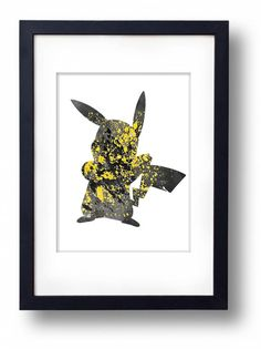 Pikachu Pokemon Watercolor illustrations Art Print Wall Art Wedding Gift Giclee Mixed Media Wall Decor Art Home Decor Wall Hanging on Etsy, $8.00