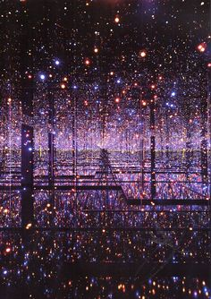 deliciousdimension:  yayoi kusama infinity mirrored room – the souls of millions of light years away, 2013